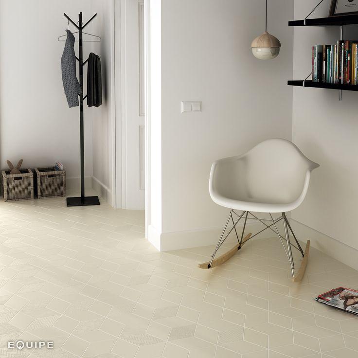 Rhombus Cream 14x24. #modern, #rhombus, #rhombus tile, #interior design, #design, #shape, #forms, #decor, #bath, #bathroom, #kitchen, #geometric tile, #geometric forms, #diamond pattern, #diamond, #equipe, #equipe cerámicas, #ceramic materials, #indoor, #flooring, #porcelain tile, #outdoor, #wall tile, #floor tile