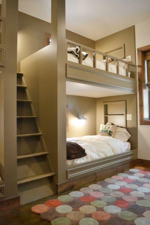 Beliches incríveis para quartos pequenos parecerem enormes | Creative