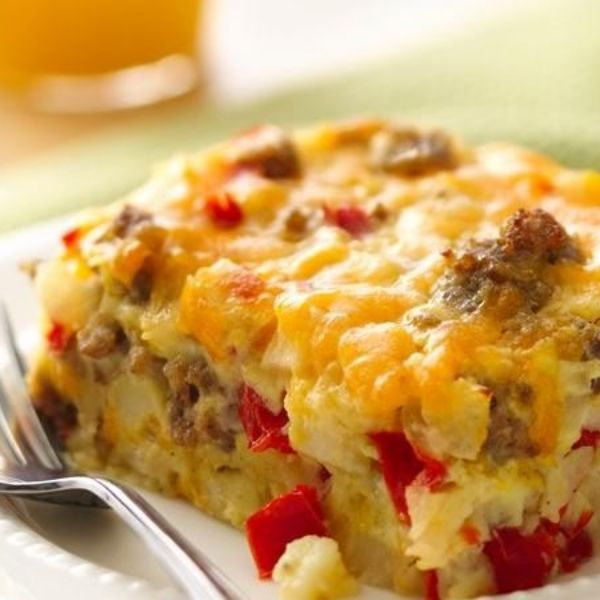 Gluten-free cheesy egg bake for brunch!