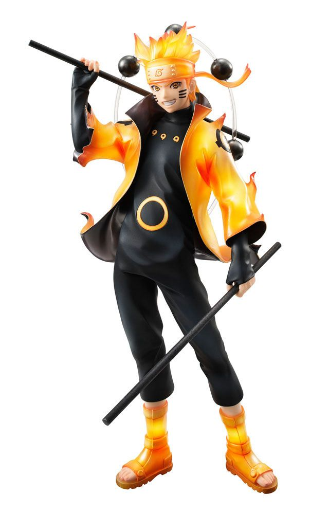 Estatua Uzumaki Naruto 24 cm. Naruto. Versión Rikudo Sennin Modo. Serie G.E.M. Megahouse  Estupenda recreación del personaje de Uzumaki Naruto de 24 cm, fabricada en material de PVC y en el estado conocido con el nombre de Rikudo Sennin Modo. Una pieza 100% oficial, licenciada, con gran variedad de accesorios que encantará a todos los fans de este famoso manga/anime.