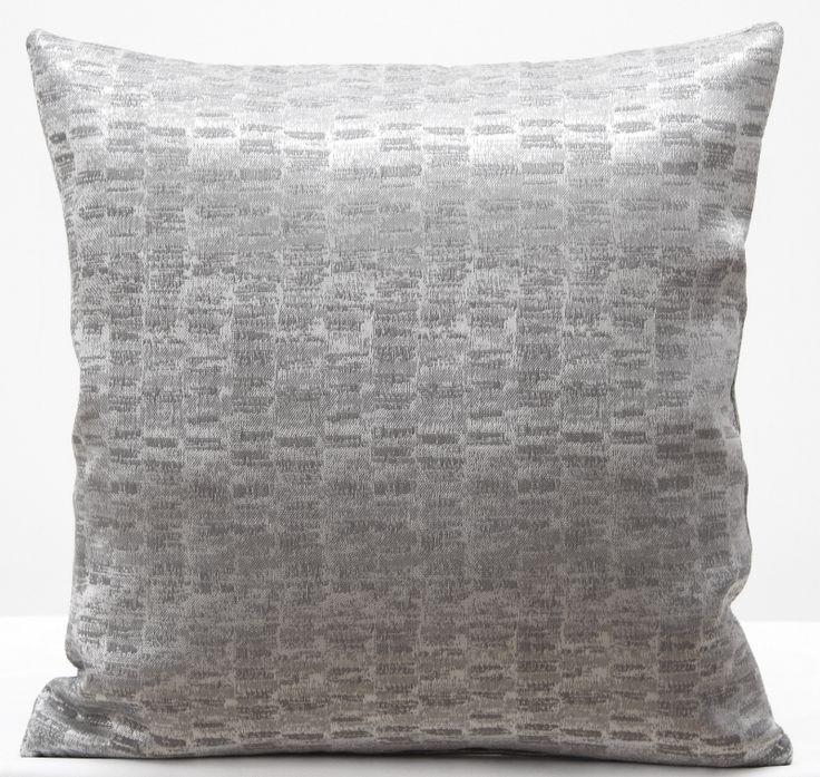 Poszewki na poduszki w kolorze srebnym 40x40