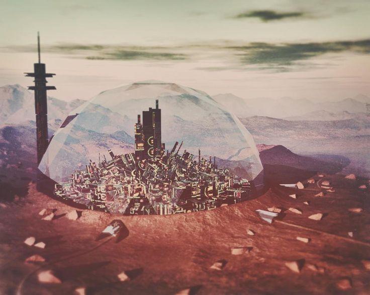 Desol-1 Settlement  #3d #3dart #render #rendering #scifi #scifiart #sciencefiction #artwork #fantasy #fantasyart #dome #city #landscape #planet #galaxy #future #utopia #desert #reflection #sky #glass #tower #alien #futuristic #concept #draft #mountains #nature #photoshop #metropolis