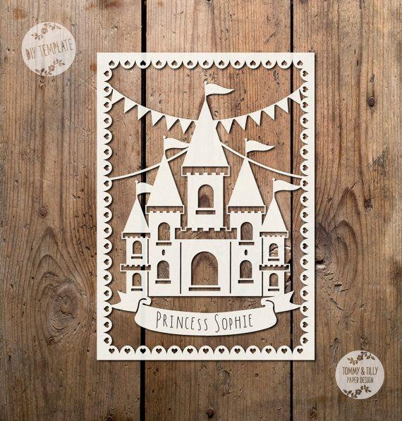 Bunting Princess Castle SVG / PDF Design  by TommyandTillyDesign