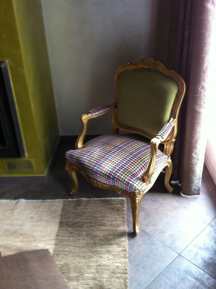 old chair .. And modern fabrics. New creation by Artextile #artextile #fabrics #interiortex #modern #chair #design