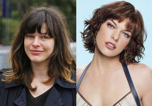 Milla Jovovich without makeup/photoshop and with