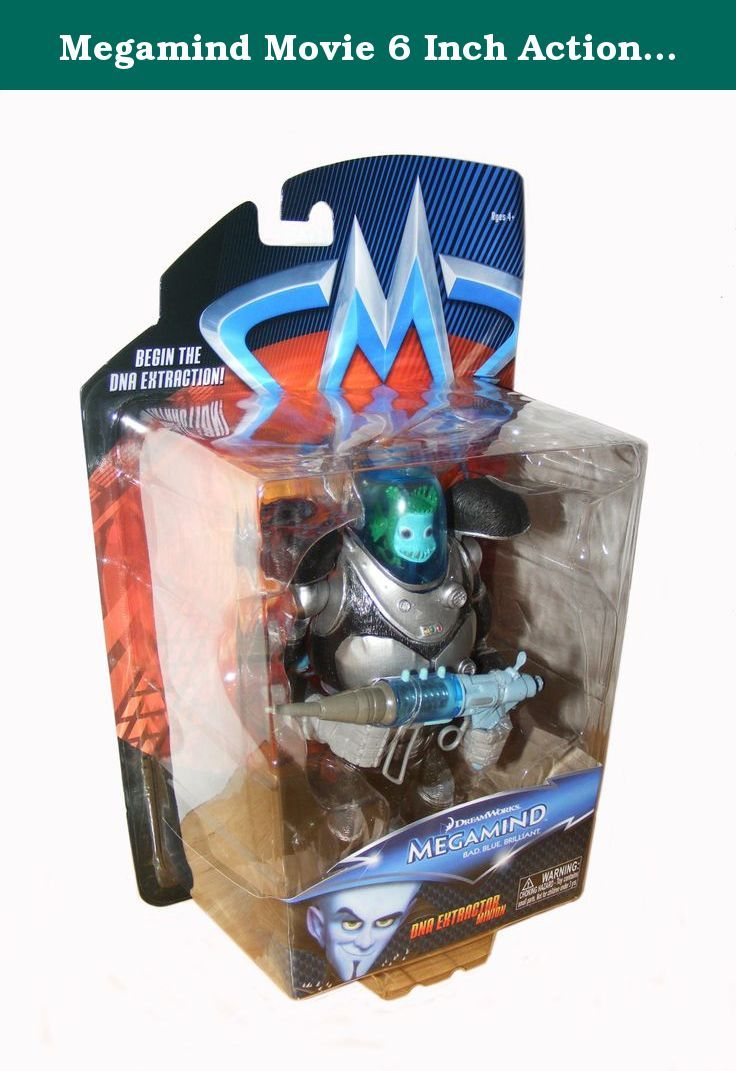 Megamind Movie 6 Inch Action Figure DNA Minion. Megamind is the most brilliant super villain the world has ever known. He has tried to conquer Metro City in every way, with each attempt a colossal failure thanks to the superhero Metro Man. One day, Megamind actually defeats Metro Man, but then realizes that without a super hero, a villains life has no purpose. Megamind creates a stronger opponent, Tighten, but Tighten turns to evil, so Megamind must decide if he can become the unlikely…