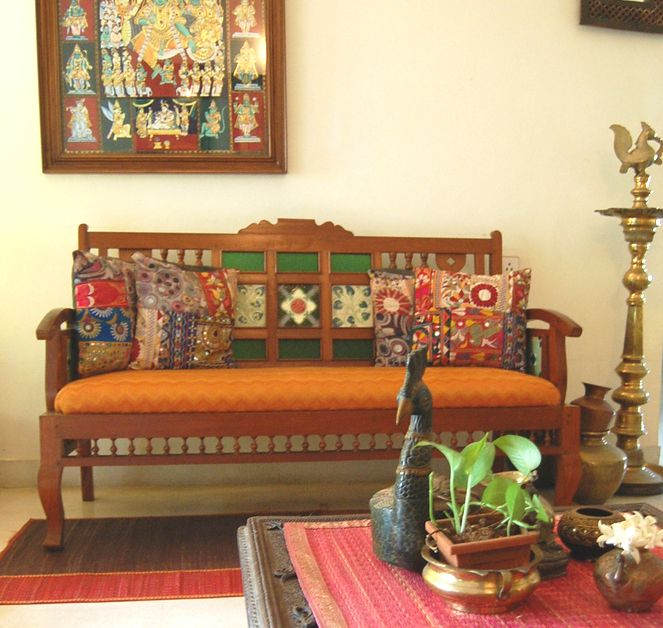 Charu's lovely home...so indian and so earthy! #indianhomedecorideas