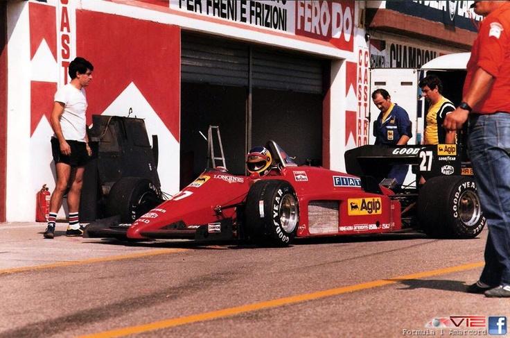 Michele Alboreto Ferrari F156-85 1985 San Marino Grand Prix