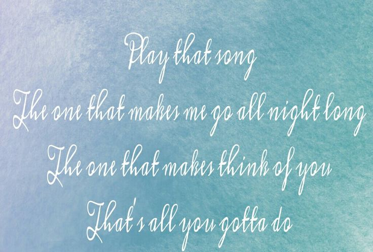 PLAY THAT SONG - TRAIN LYRICS