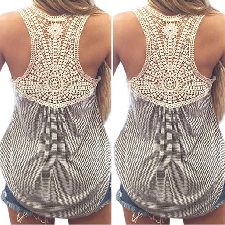 Womens Striped  Lace Crochet Back //Price: $14.99 & FREE Shipping //     #hoodie #dress #beautiful #style