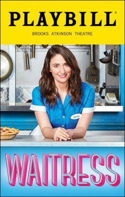 Waitress playbill *Brand New*  **Free Shipping* *Free Flyer *Sara Bareilles*