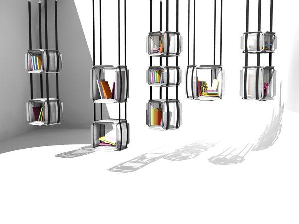Bibliothèque suspendue par Adrien De Melo
