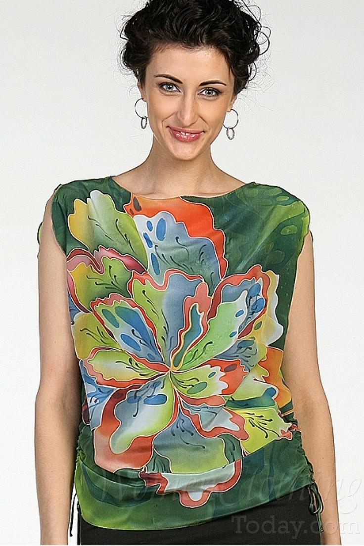 womenclothingtoday.com Silk Blouse Fall Emerald