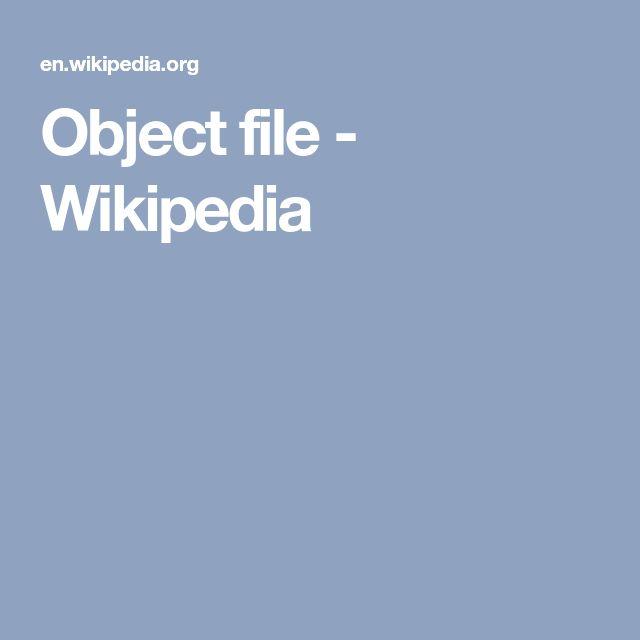 Object file - Wikipedia