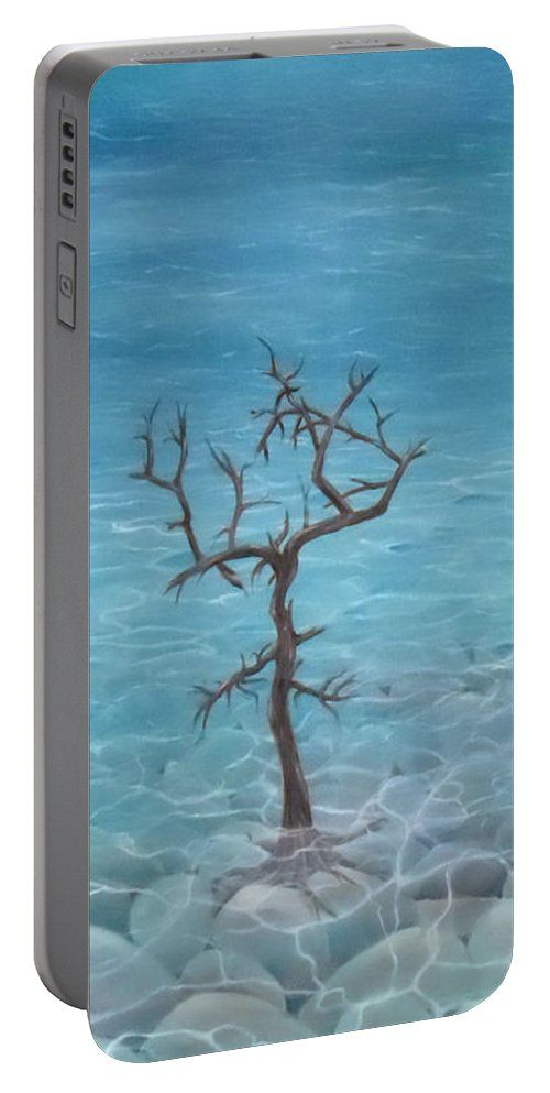 Portable Battery Charger,  blue,cool,beautiful,fancy,unique,trendy,artistic,awesome,fahionable,unusual,accessories,for,sale,design,items,products,gifts,presents,ideas,coastal,nature,sea,trees