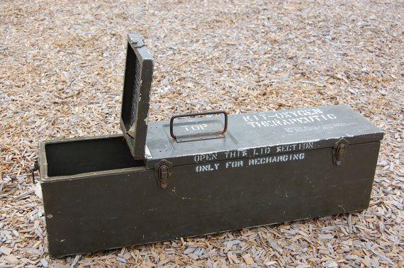 Vintage Industrial Metal Military Box Metal by PickersWarehouse, $75.00