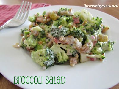 Broccoli Salad - This salad has been making the BBQ circuit for many a-generation.  And that's because it is a beloved classic.  And because eating broccoli all by itself is just far to healthy, we must add bacon and mayo to it. Now that's my kinda salad...
