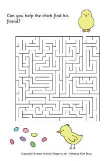 Easter maze 1 - help the chick find his friend