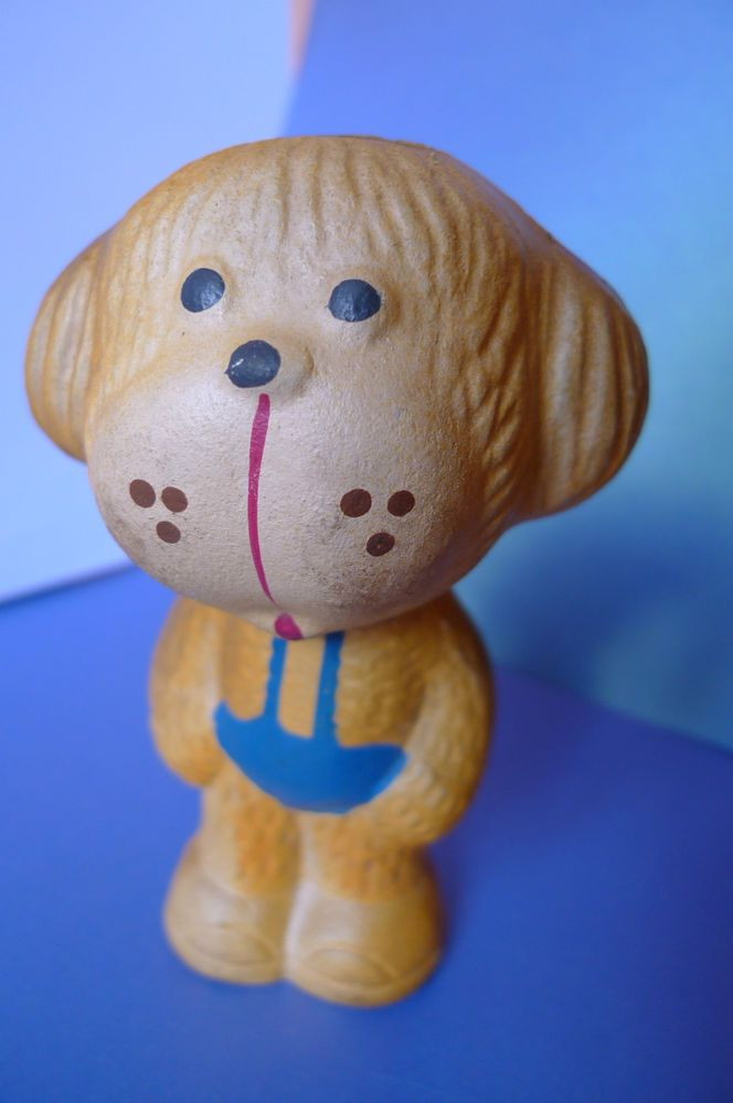Vintage USSR Old rubber toy DOG Soviet Union collectibles toys RARE marked