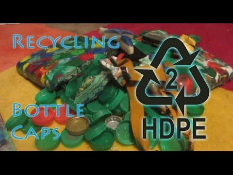 How to Recycle HDPE Bottle Lids Into Very Strong Sheet Material - Easy Method - YouTube
