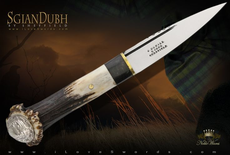 Crown Stag Sgian Dubh SHE021 by Sheffield Knives