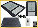Value Combo- Black Silicone Case for Amazon Kindle 2 (2nd Generation) Ebook R