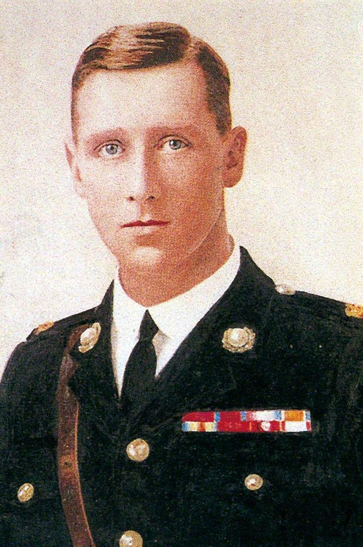 """Captain Edward Bamford, VC, DSO (1887–1938), Royal Marine Light Infantry"" by W J Rowden.  Royal Marines Museum."