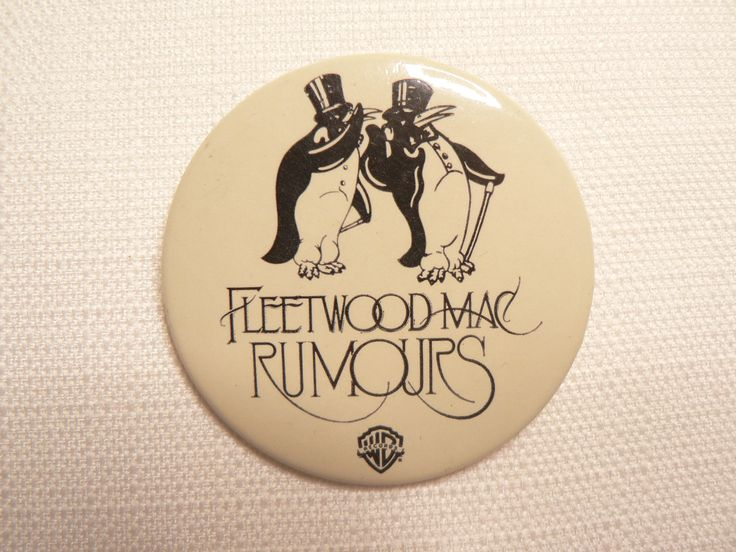 BIG Vintage Late 70s Fleetwood Mac - Rumours Album (1977) Penguins - Promotional  Pin / Button / Badge by beatbopboom on Etsy