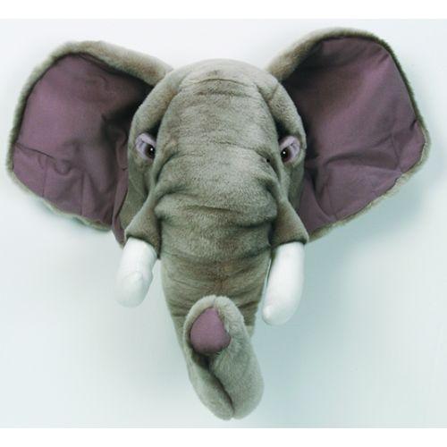Plush Elephant Head