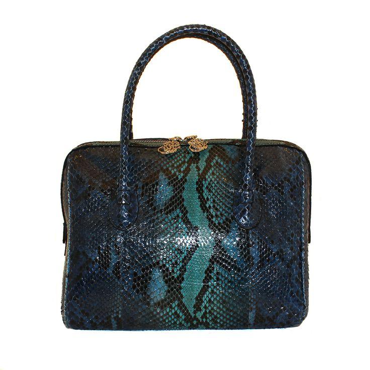 Borsa in vero pitone da Salamastra - Authentic hand painted python bag by Salamastra