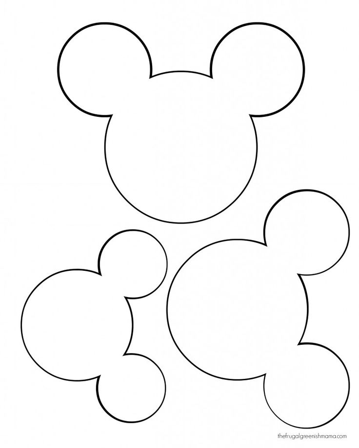 Mickey head template Más