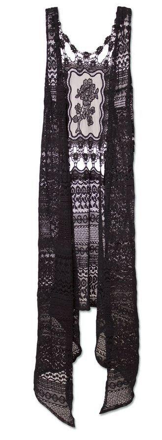 black dahlia lace vest <3