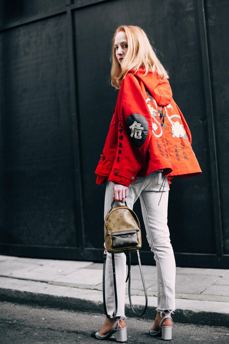 On the street at London Fashion Week. Photo: Imaxtree.