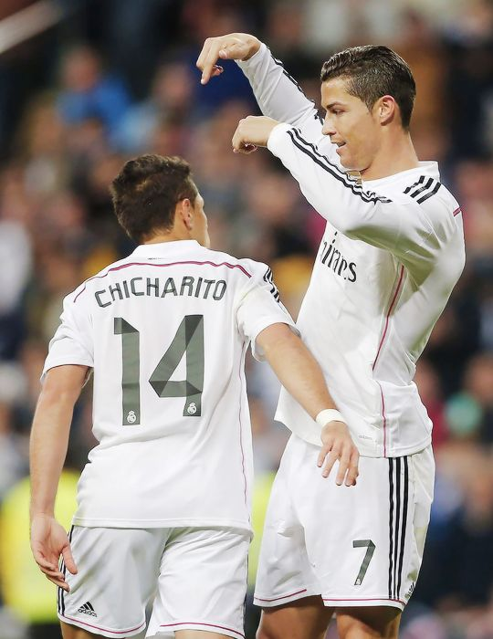 Cristiano Ronaldo and Chicharito - Real Madrid