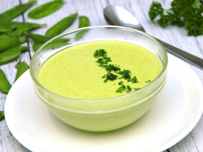 Zöldborsókrémleves recept