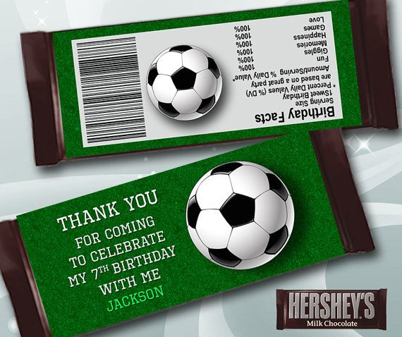 Thank You Soccer Candy Bar Wrapper for Birthday Party, Printable Tag for Soccer Chocolate, Sports Theme Sticker, JPG  DIGITAL 056