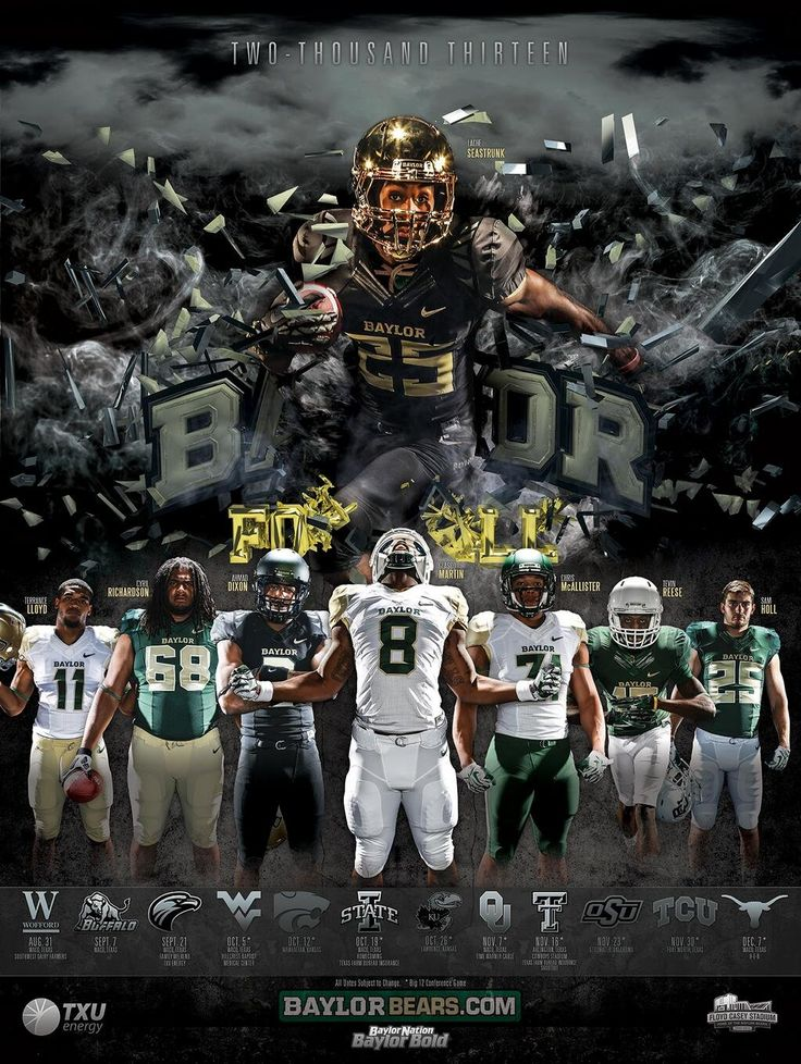 #Baylor Football 2013 schedule poster. #sicem