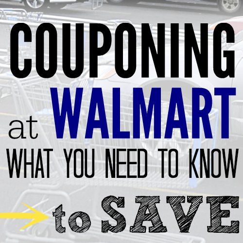 Couponing at Walmart - here are some tips to help you save big at Walmart. Couponing at walmart doesn't hasn't to be hard with these tips.