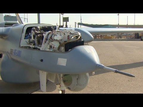 Israel shows off new drone technology...