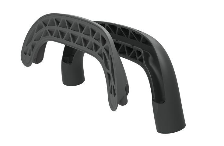KITT flat-pack chair for HAY, plastic bracket detail, illustration by Stefan Diez Office www.stefan-diez.com