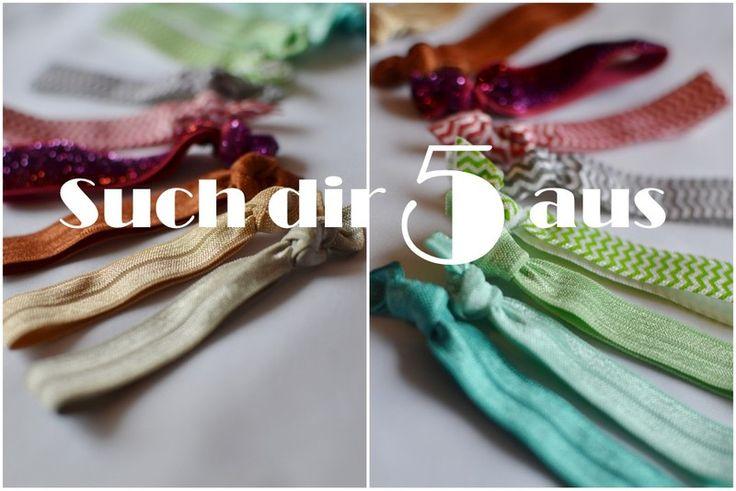 ♥  5 STÜCK - Haargummi Armband von Luisen auf DaWanda.com
