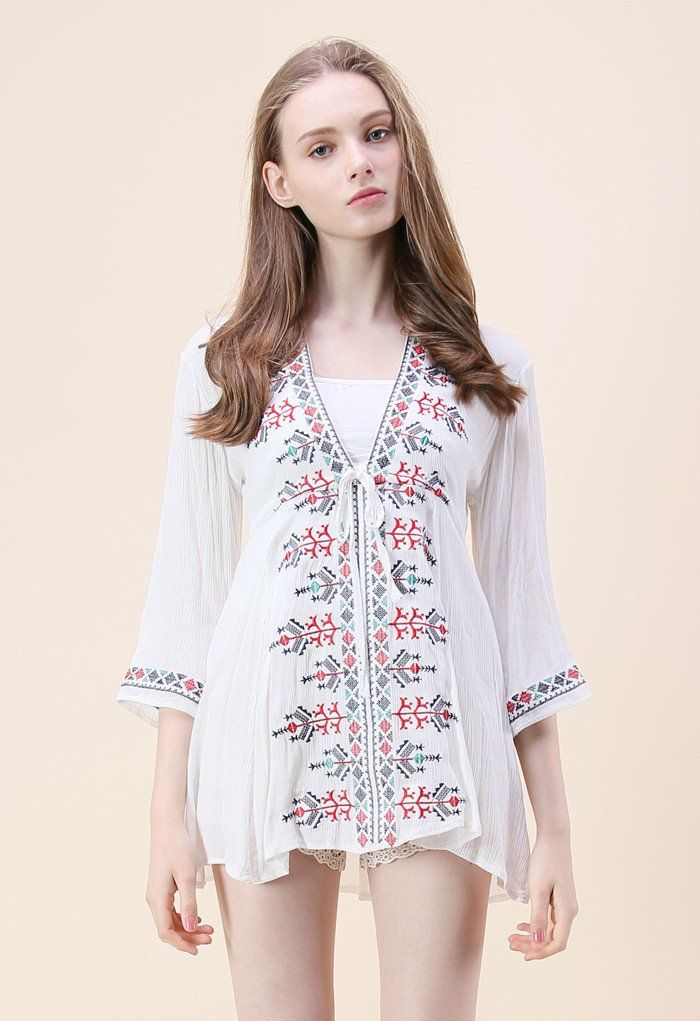 Boho Tribe Embroidered Tunic