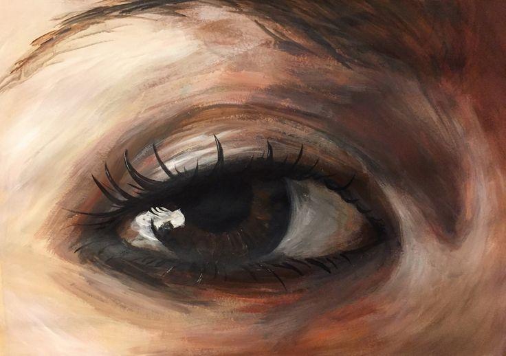 Instagram @goldfincheve4  Art artwork painting acrylic eye