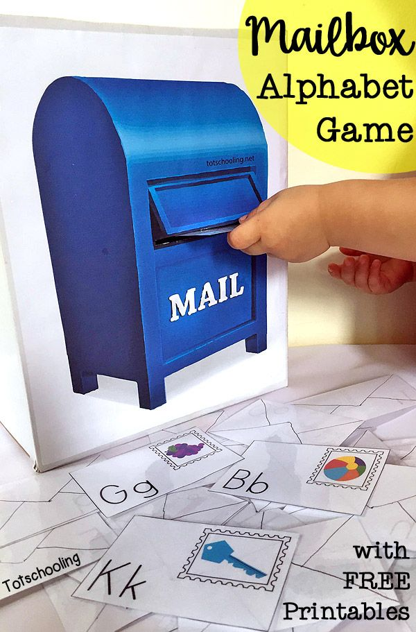 FREE pretend play alphabet game where kids can mail letters in a mailbox. Great for a community helper or post office theme. Practice letters and beginning letter sounds!
