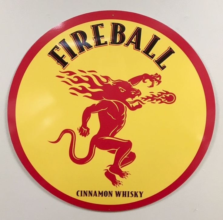 Fireball whiskey 24 inch Metal sign