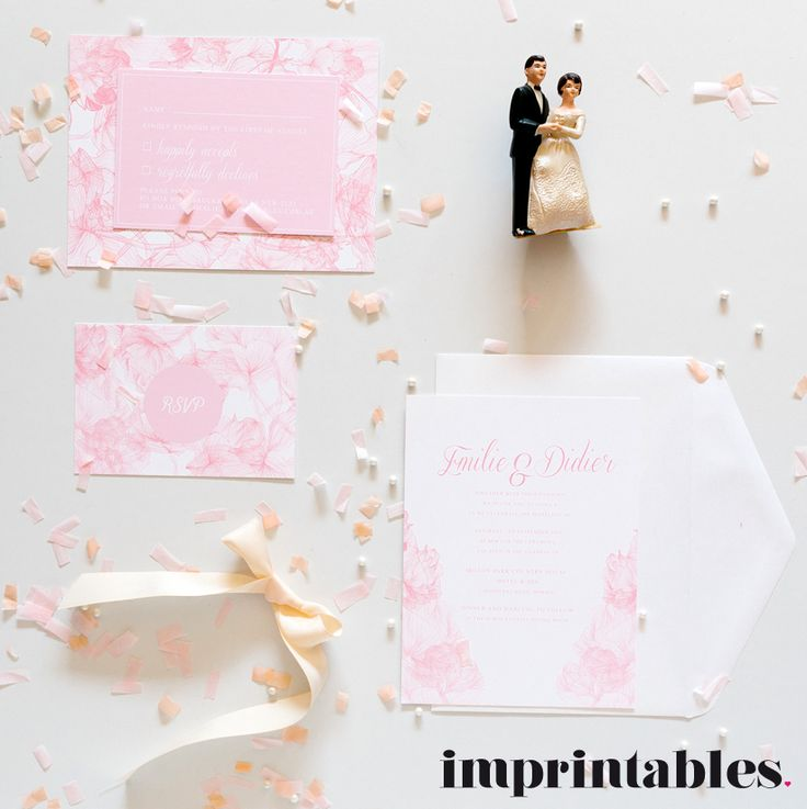 BLUSH wedding invitation by IMPRINTABLES www.imprintables.com.au