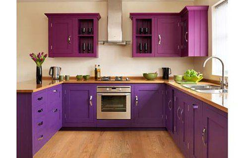 purple kitchen!...Kevin would never allow it! but its still a wonderful idea!