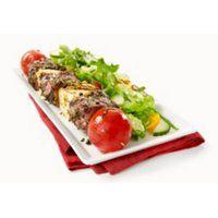 Fiche recette | Brochettes de filet mignon, tomates cerises et halloumi | SAQ.com