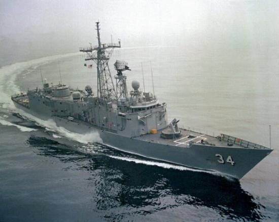 US Navy Oliver Hazard Perry Class Frigate