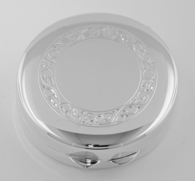 Sterling Round Rose Border Pillbox - Made in USA $115.00